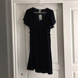 H&M maternity navy blue dress